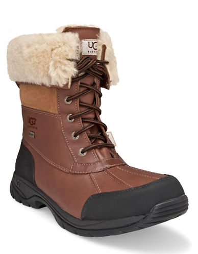 UGG AUSTRALIA Mens Butte Sheepskin Leather Boots