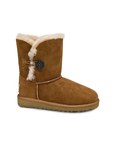UGG AUSTRALIAToddlers Bailey Button Sheepskin Boots