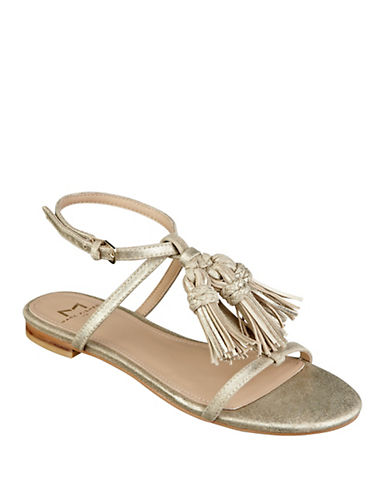 Buy Crystal Tassel-Accented Leather Sandals by Marc Fisher Ltd online