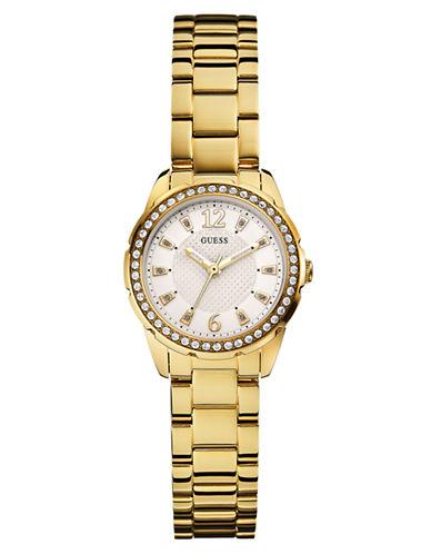 GUESSLadies Refined Gold Tone Glitz Watch