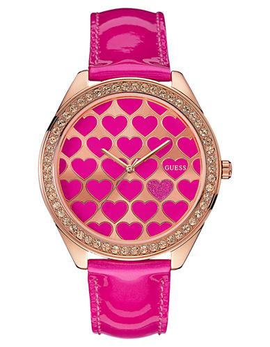 GUESSLadies Dazzling Hearts Glitz Watch