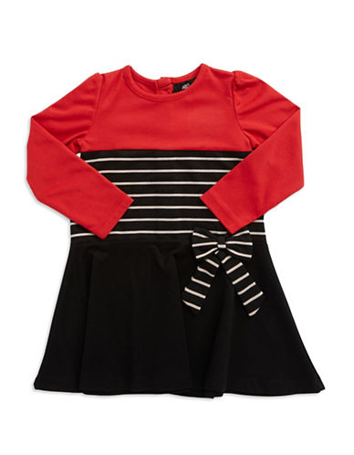 A.B.S. BY ALLEN SCHWARTZBaby Girls Striped Fit and Flare Dress