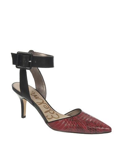 SAM EDELMANOkala Leather Ankle Strap Pumps