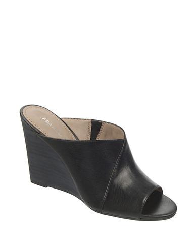 FRANCO SARTOFiligree Leather Wedge Slides