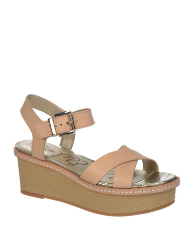SAM EDELMAN Tina Leather Wedge Sandals