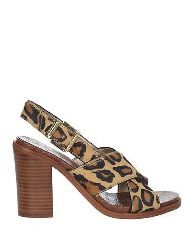 SAM EDELMANIvy High-Heel Leopard Printed Sandals