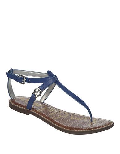 SAM EDELMANGalia Brahman Hair and Leather Thong Sandals