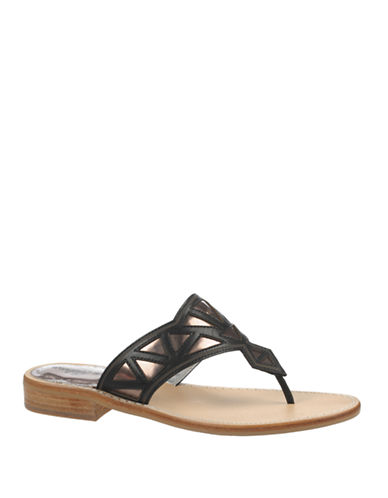 Buy Treva Two-Tone Leather Thong Sandals by Sam Edelman online