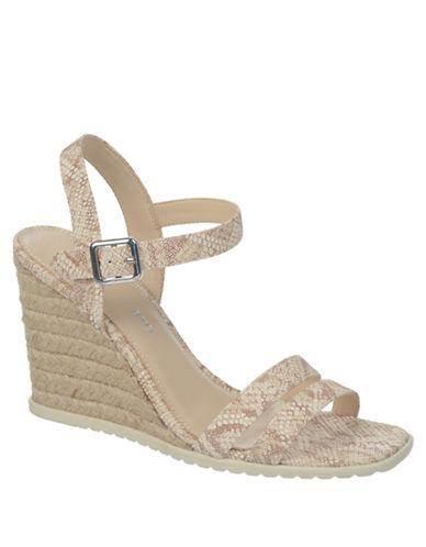FRANCO SARTONyala Snakeprint Espadrille Wedge Sandals