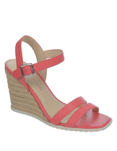 FRANCO SARTONyala Leather Espadrille Wedge Sandals
