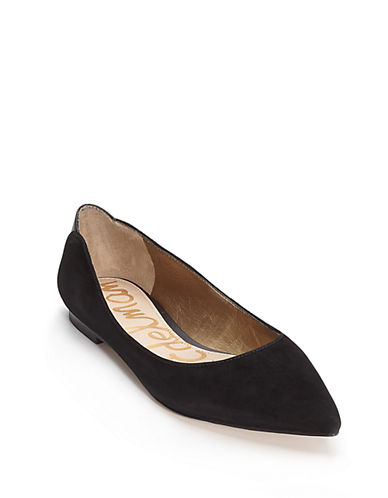 SAM EDELMAN Rae Suede Point Toe Flats