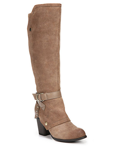 FERGIETotal Leather Knee-High Boots