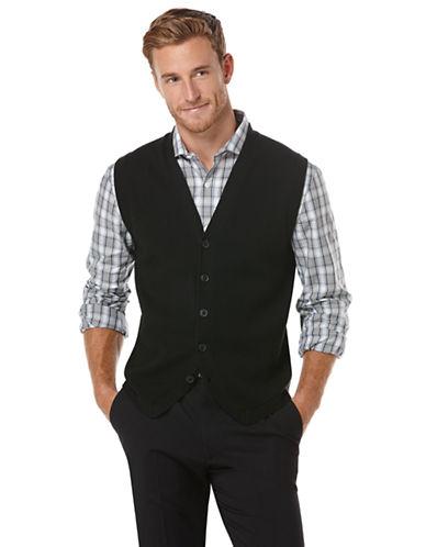 PERRY ELLISButton Front Sweater Vest