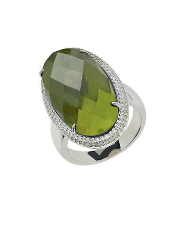 LORD & TAYLORSterling Silver Vesuvianite and Diamond Ring