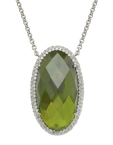 LORD & TAYLORSterling Silver Vesuvianite and Diamond Necklace
