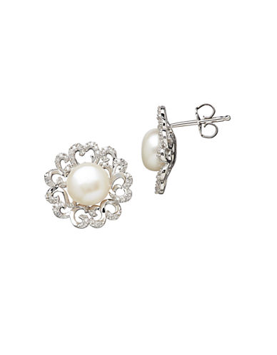 LORD & TAYLORSterling Silver Freshwater Pearl and Diamond Earrings