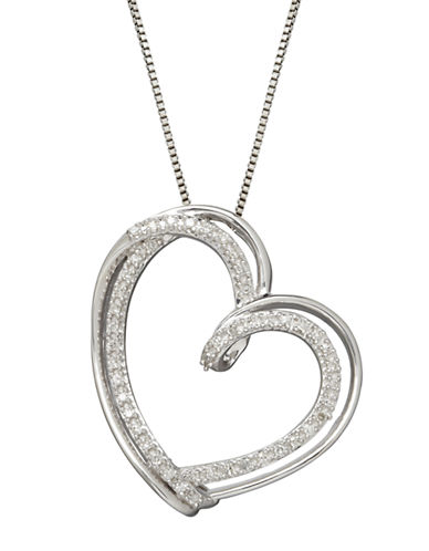 LORD & TAYLORRed Box Gallery Sterling Silver Diamond Heart Pendant Necklace