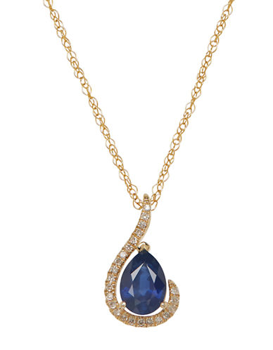 LORD & TAYLORRed Box Gallery 14K Yellow Gold Sapphire and Diamond Pendant Necklace