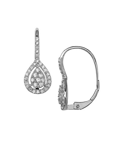 LORD & TAYLOR Red Box Gallery 14K White Gold 0.25 tcw Diamond Drop Earrings