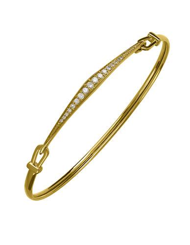 Lord & Taylor 14K Yellow Gold Diamond Bangle Bracelet