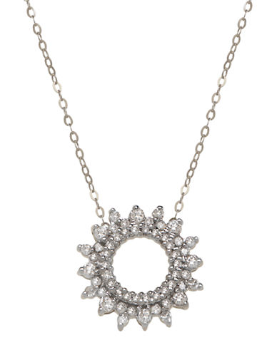 LORD & TAYLOR 14K White Gold Diamond Necklace