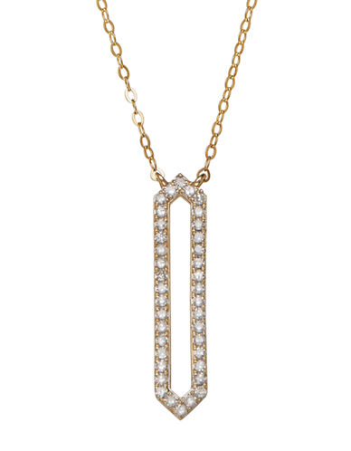 LORD & TAYLOR 14K Yellow Gold Diamond Necklace