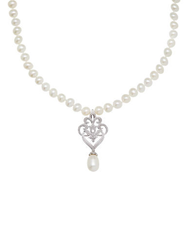 LORD & TAYLOR8MM Freshwater Pearl and Sterling Silver Pendant Necklace