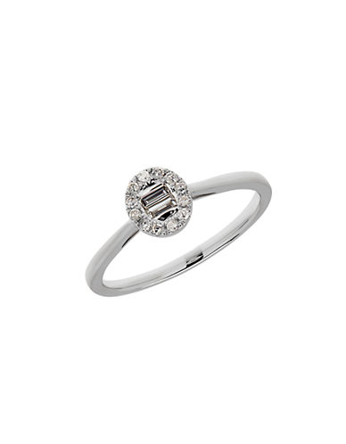LORD & TAYLOR Diamond and 14K White Gold Halo Ring