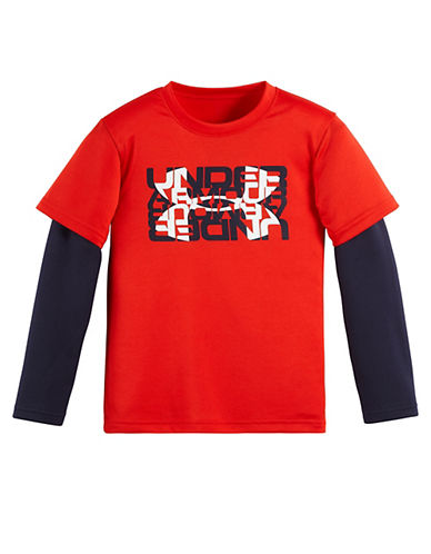 UNDER ARMOUR Baby Boys Slider Layered Sleeved Tee
