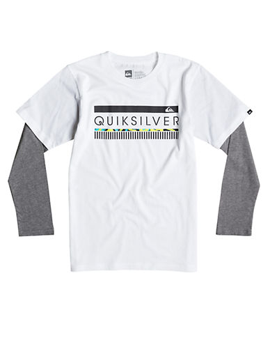 QUIKSILVER Boys 8-20 In The Zone Layered Tee