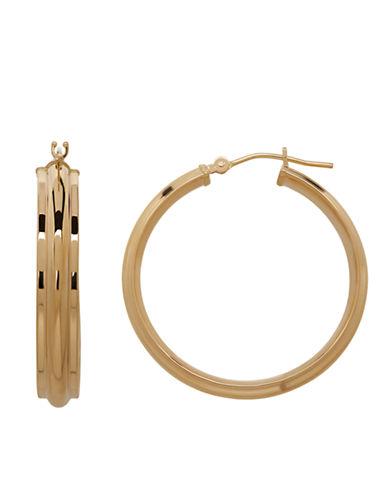 LORD & TAYLOR14K Yellow Gold Hoop Earrings
