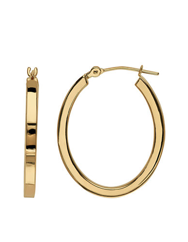 LORD & TAYLOR14K Yellow Gold Polished Hoop Earrings