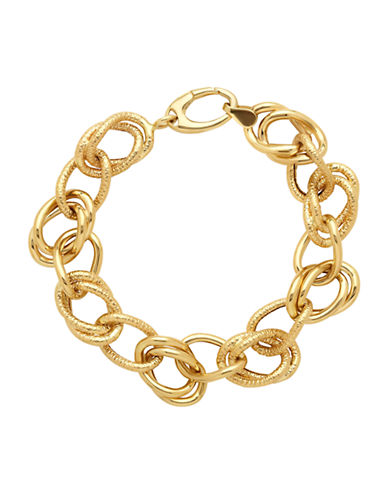 LORD & TAYLOR 14K Yellow Gold Link Bracelet