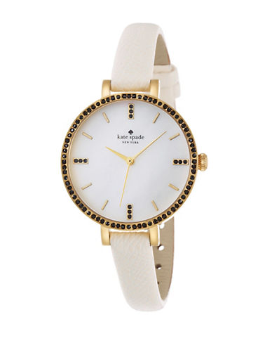 KATE SPADE NEW YORKLadies Metro Skinny Watch with Crystal Detail