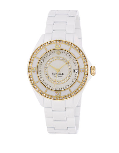 KATE SPADE NEW YORK Ladies Seaport Grand Watch with Crystal Detail