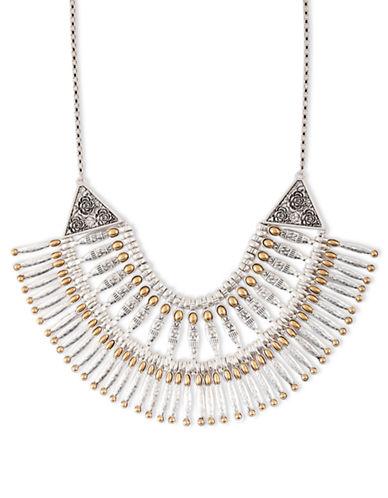 LUCKY BRANDModern Metals Two-Tone Bib Necklace