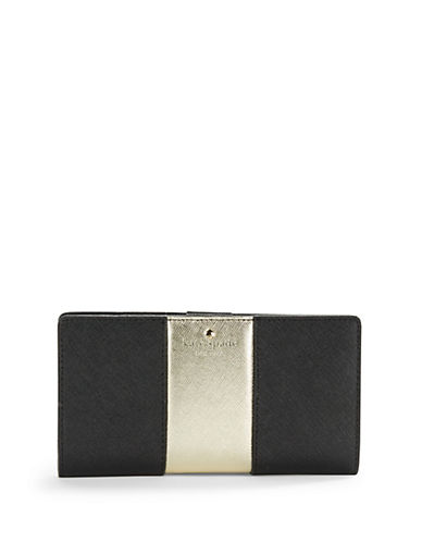 Kate Spade New York Racing Stripe Stacy Leather Wallet