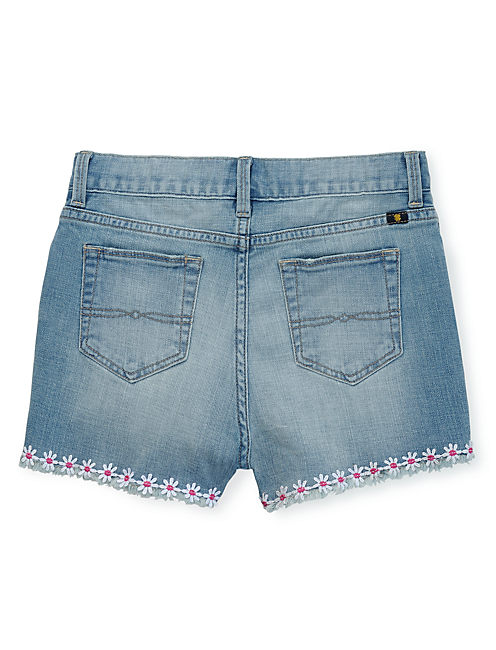RILEY CUT OFF SHORT DAISY, PERIWINKLE