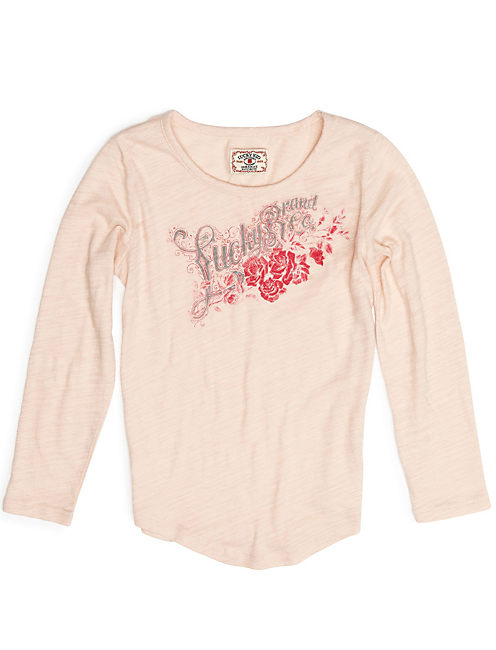 LUCKY ROSES TEE, SOFT BLUSH