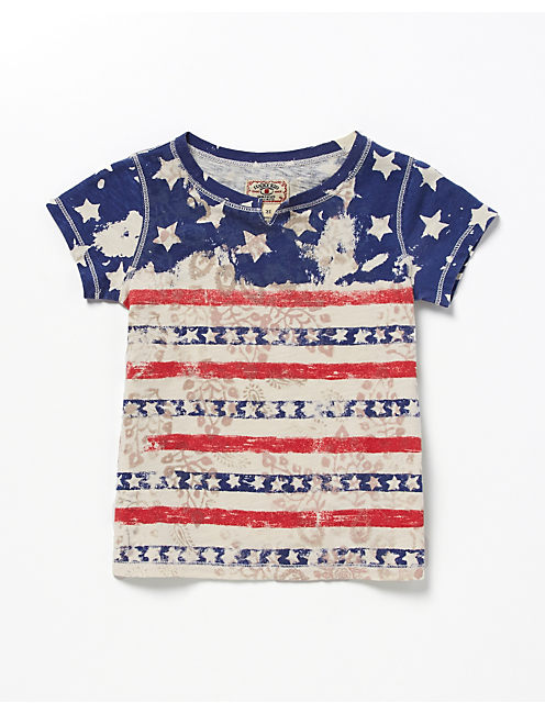 STARS AND STRIPES TEE, #2413 NIGORI