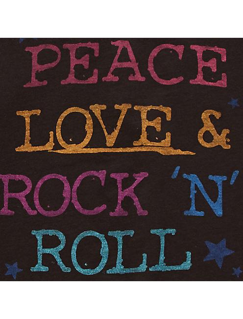 """PEACE LOVE & ROCK """"N ROLL,"""