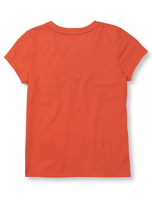 LUCKY HEART TEE, CORAL