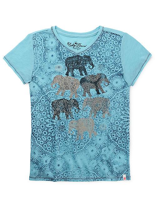 PAISLEY ELEPHANTS, #40066 AQUA SEA