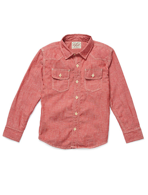 RED CHAMBRAY SHIRT,