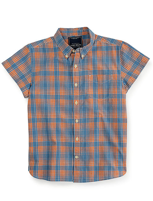 GROVER 1 POCKET SHIRT, NATURAL/ORANGE
