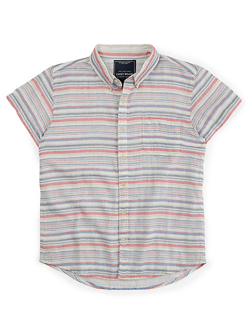 BEACH CRUISER SHIRT, MULTI STRIPE