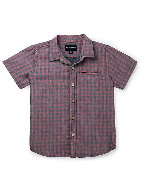 REDWOOD 1 POCKET SHIRT, RED/BLUE