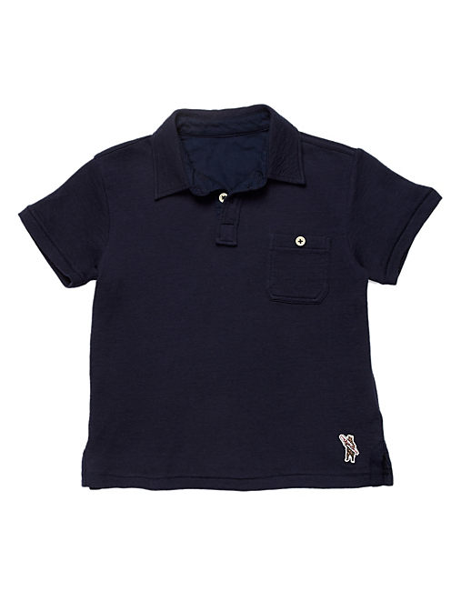 DUOFOLD POLO, #4982 AMERICAN NAVY