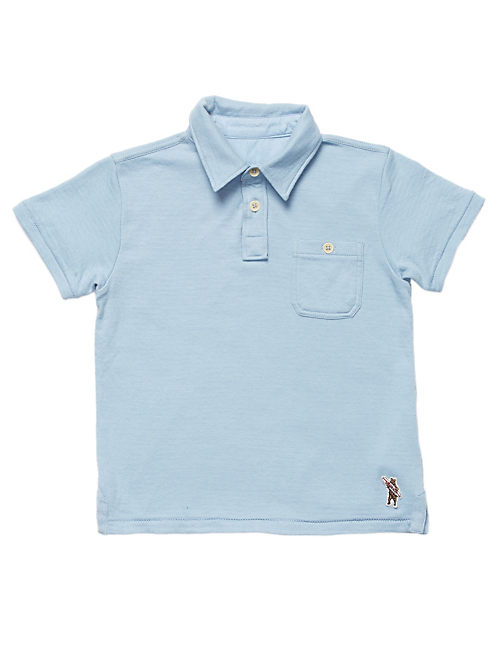 DUOFOLD POLO, SPRING BLUE #4982