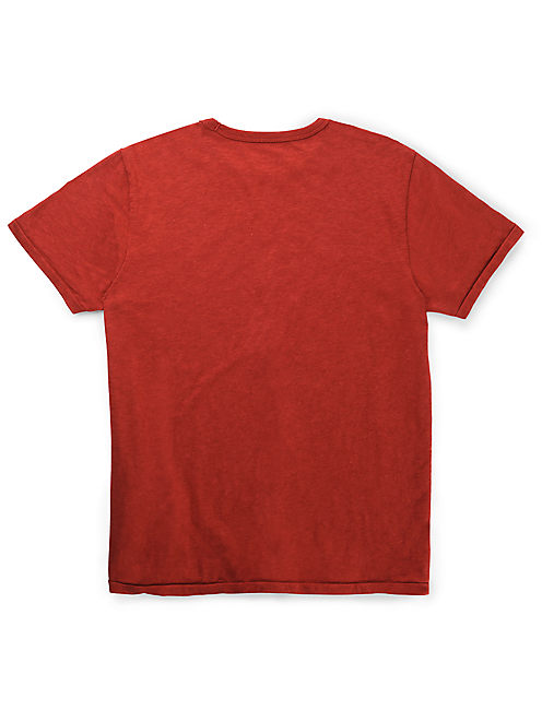 FENDER ROCK ON TEE, ETRUSCAN RED